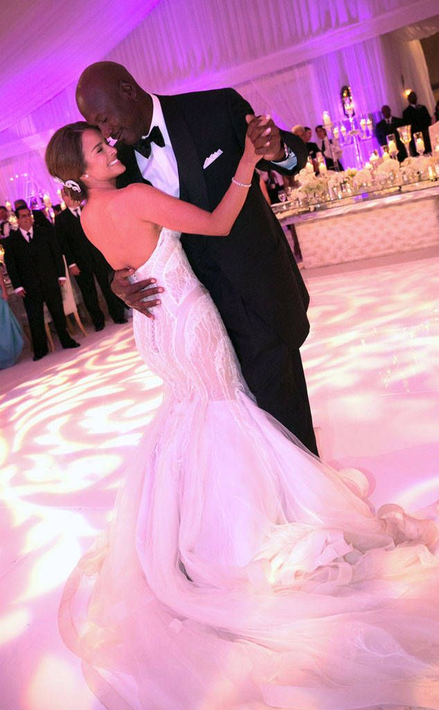 Michael Jordan and Yvette Prieto from The Most Over-the-Top Celebrity Weddings  The basketball star and his wife reportedly spent around 10 million dollars on their wedding, making it one of the most expensive celebrity weddings ever!