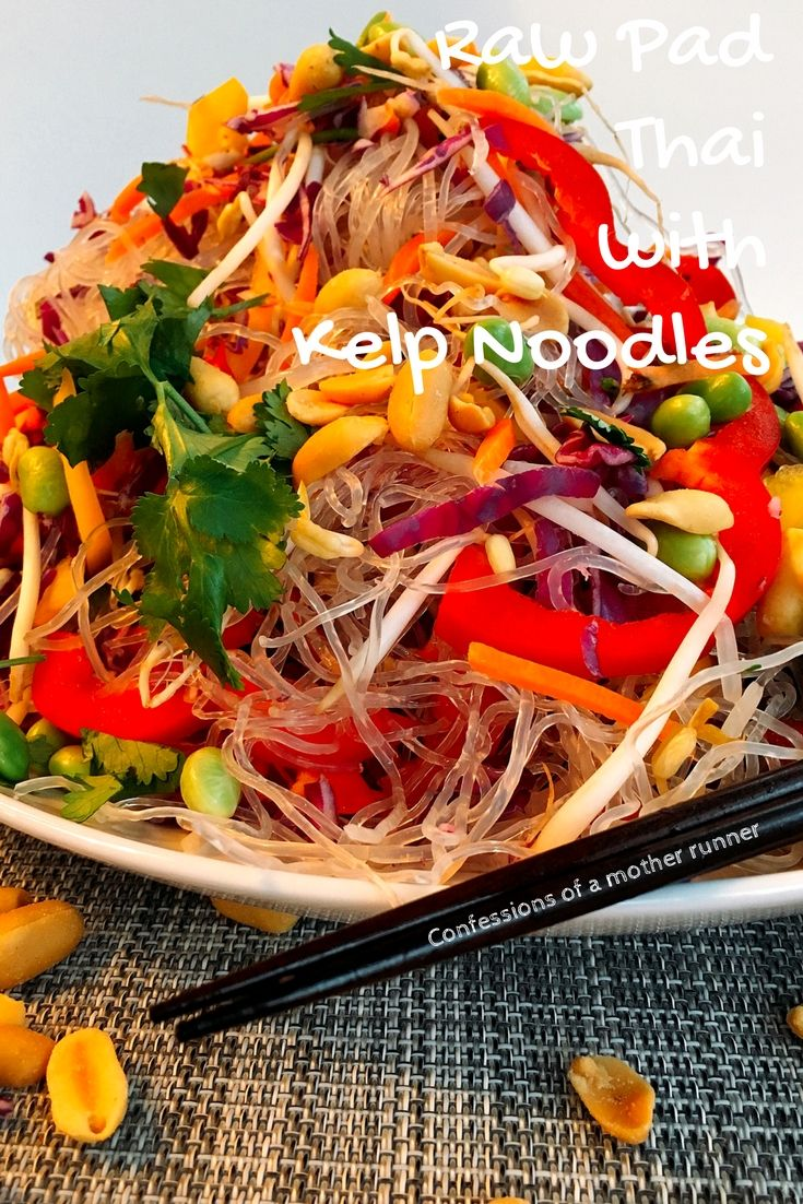 Raw Pad Thai Salad With Kelp Noodles & Giveaway | Recipe ...