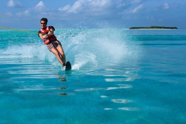 Ihram Kids For Sale Dubai: Water Skiing In The Indian Ocean At Kanuhura Resort & Spa