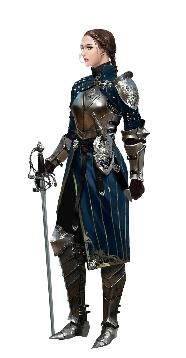Female Swashbuckler Knight - Pathfinder PFRPG DND D&D d20 fantasy
