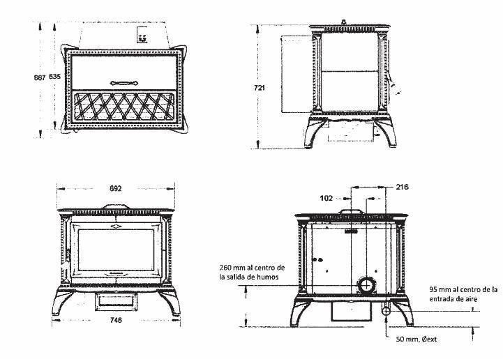 Estufa Pellet Hergom Heritage el dibujo de la veta natural de la piedra es diferente en cada estufa, por lo que cada una es una pieza única