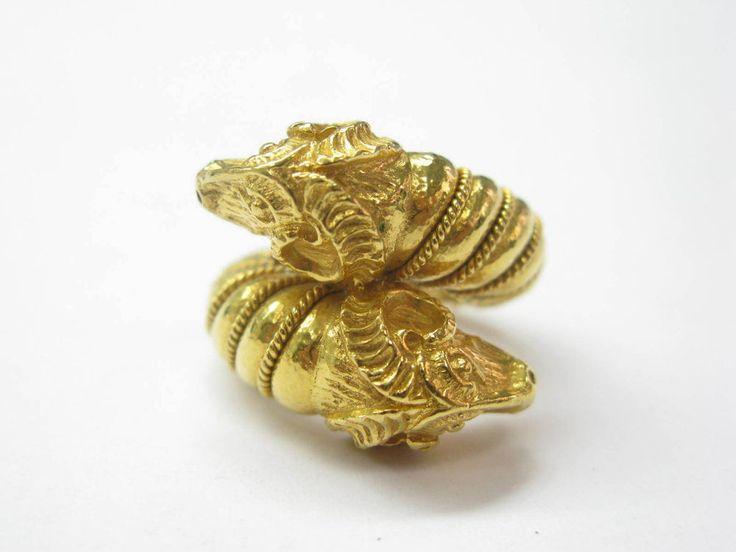 Zolotas 22kt Rams Head Jewelry Ring Yg Sz 6 5 1 593 Style De Bijoux Bague Alliance Tissage A La Main