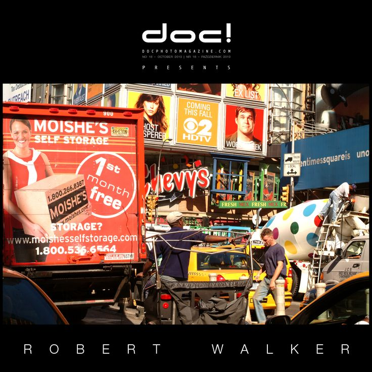 "doc! photo magazine presents: Robert Walker ""What's Going on Here?"" (photo essay, doc! #16, pp. 52-69) ""Language of Black and White Photography Is Exhausted"" (interview, doc! #16, pp. 39-51)"