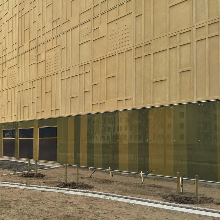 Concrete relief facade Galleria Boulevard in Kristianstad
