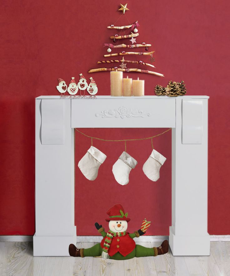 Caminetto decorativo in legno  #shabby #chic #shabbychic #home #house #provence #style #fireplace #decorations #fakefireplace #christmas #decorating #white #wood #stripes #striped #wall #red #nordic  #scandinavian #classic #santa #wall #redwall #style #warm #room #living #inspiration #houses #furniture #online #shopping #diy #tutorial #design #gift #gifts #presents #present #idea #ideas