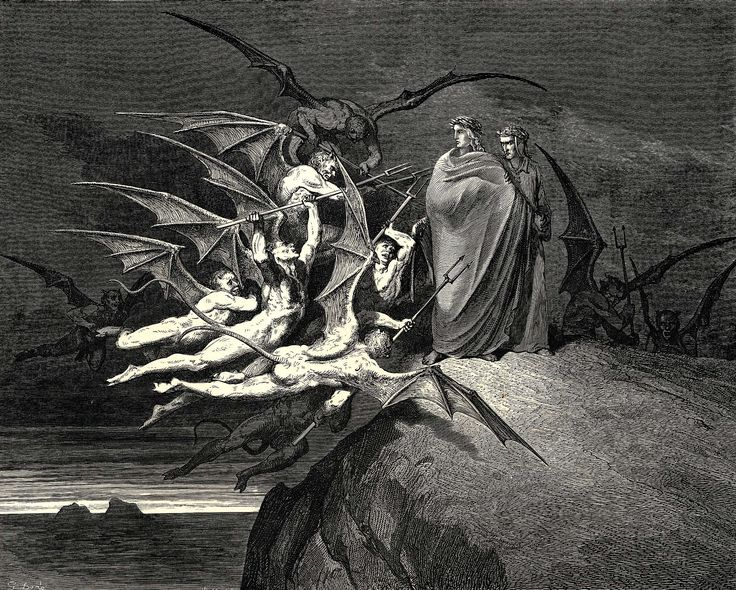 The Inferno, Canto 21 - Gustave Dore - WikiArt.org