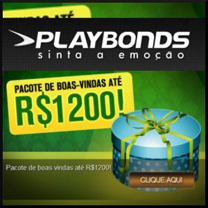 Playbonds.com preparou um pacote maravilhoso de bem-vindas para os usuários que se inscreverem na página. Se você ainda não depositou no site, pode aproveitar esta promoção bonita, que oferece um bônus de 100% para os três primeiros depósitos que faz no PlayBonds.  Cada depósito pode lhe dar até R$ 400 em bônus, isto é … R$ 1.200 no total! Sim, você leu certo! até R$ 1200 de presente para começar a jogar numa das páginas mais importantes de jogos online.