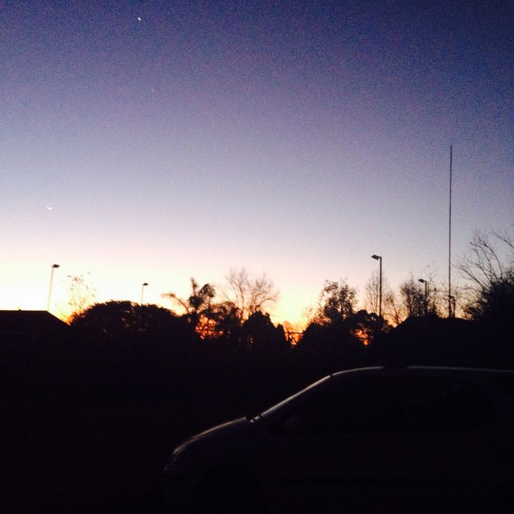 Sunrise - as night turns to day beauty exists in Johannesburg