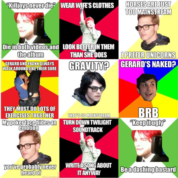 MCR Memes by autumn-river on Polyvore featuring art