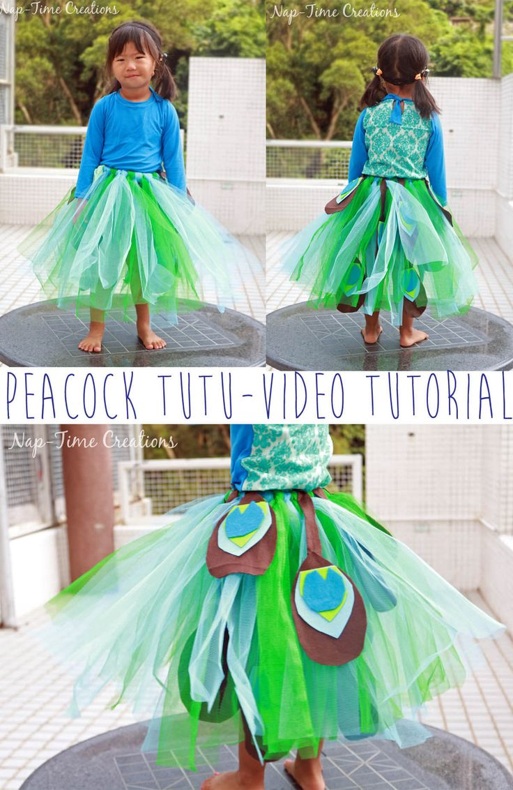 peacock tutu costume video tutorial from life sew savory