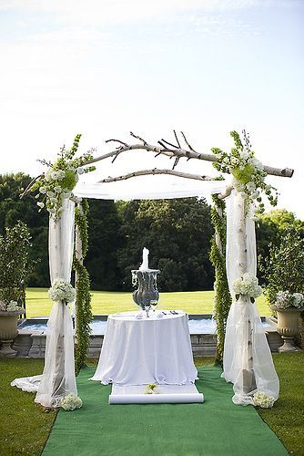 White Birches Arbors, Arbors For Wedding, Awesome Chuppah, Arbors Ideas, Rustic Wedding Trellis, Wedding Trellis Ideas, Birches Branches Wedding, ...