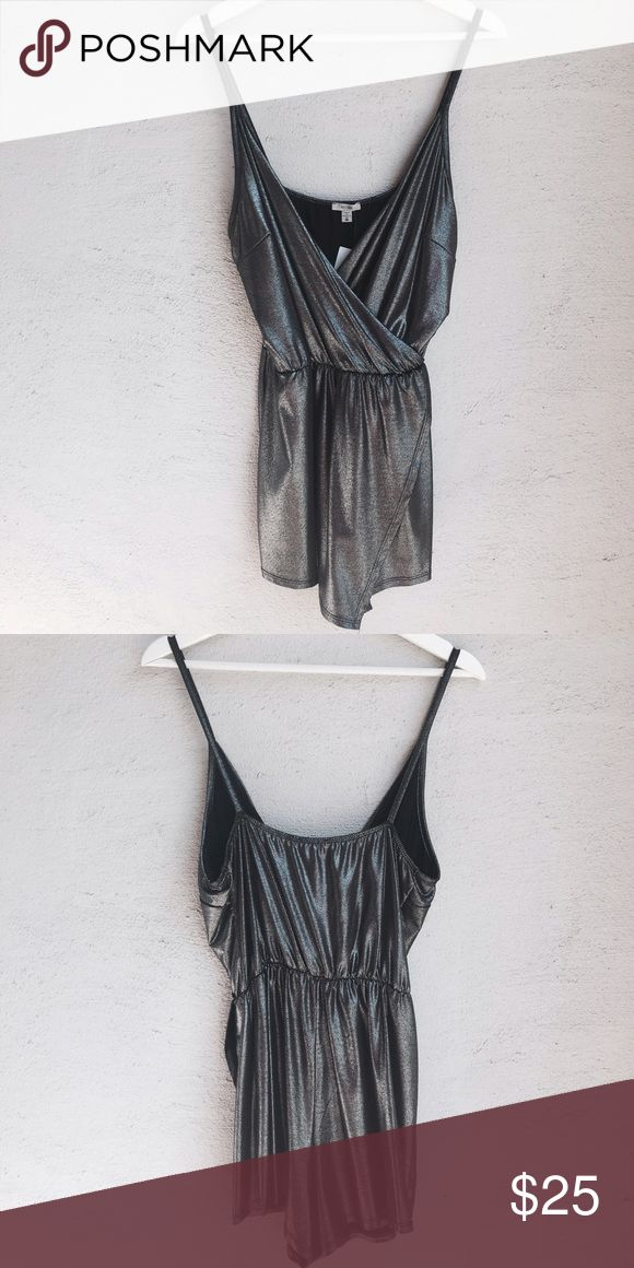 NEW WITH TAGS! Urban Outfitters Metallic Jumper Plunging neckline this jumper is perfect for day or night! Urban Outfitters Other