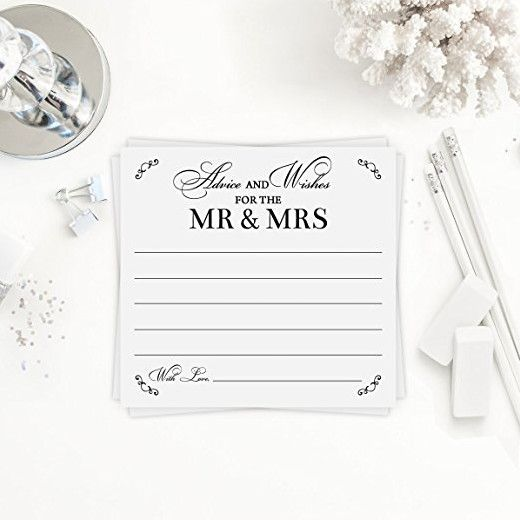 advice cards wedding