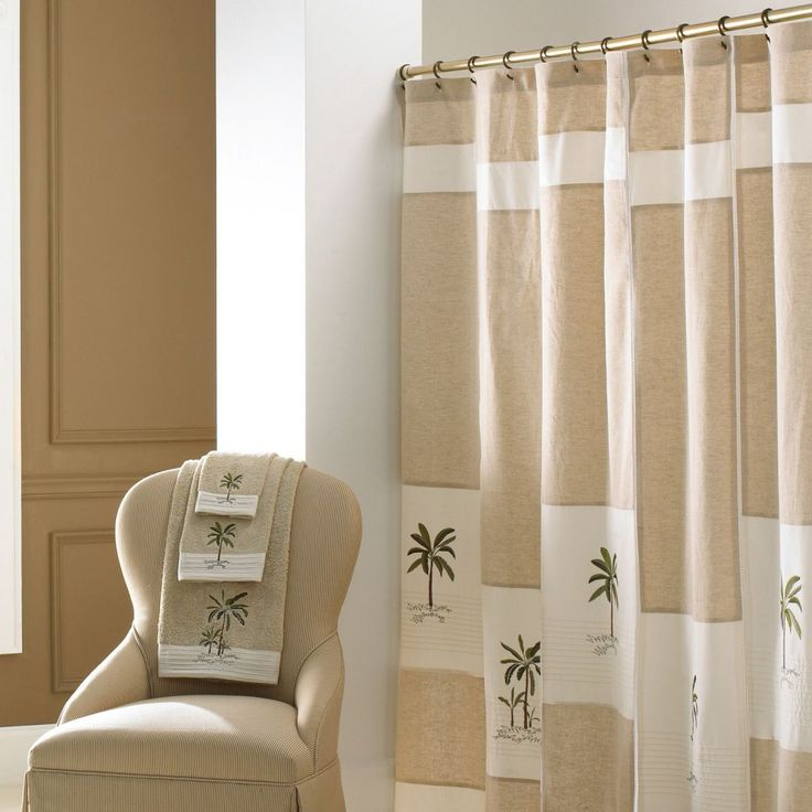 Bathroom Bathroom Shower Curtains Tropical Creamy 84 Inch Shower Curtain Shower Curatin Decoration Open Plan Room And Comfy Cream Chair Black And White Shower Curtain Trendy Beautiful Shower Curtains