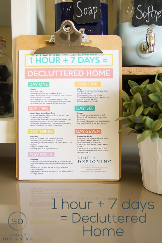 7 Hours to a Decluttered Home   Simply Designing