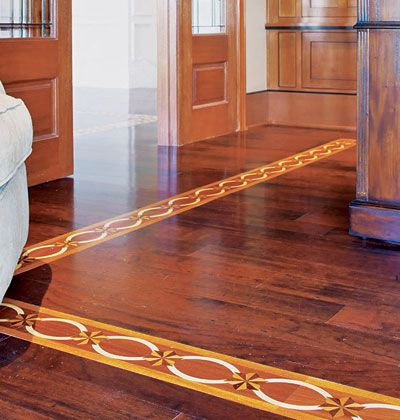 Inlaid Patterned Wood U003c 10 Great Flooring Options   MyHomeIdeas.com Could  Transition From Tile