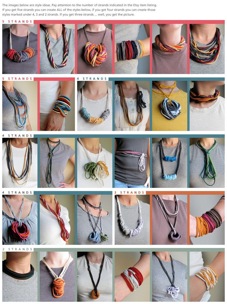 Recycled Tshirt Necklace or Bracelet by AnnDoraCraft on Etsy