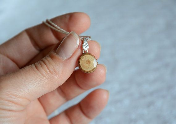 Little natural pendant round wooden pendant by MyPieceOfWood