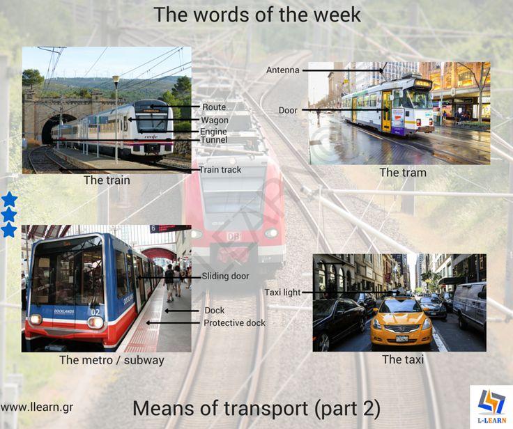 The means of transport (part 2). #Αγγλικά #αγγλικές #λέξεις #αγγλική #γλώσσα #λεξιλόγιο #English #english #words #english #language #vocabulary #LLEARN