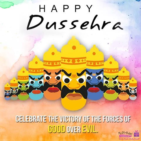 Truth is always victorious! Wishing you all a very Happy Dussehra!  #Dussehra #Greetings #MyBirthdaySupplies