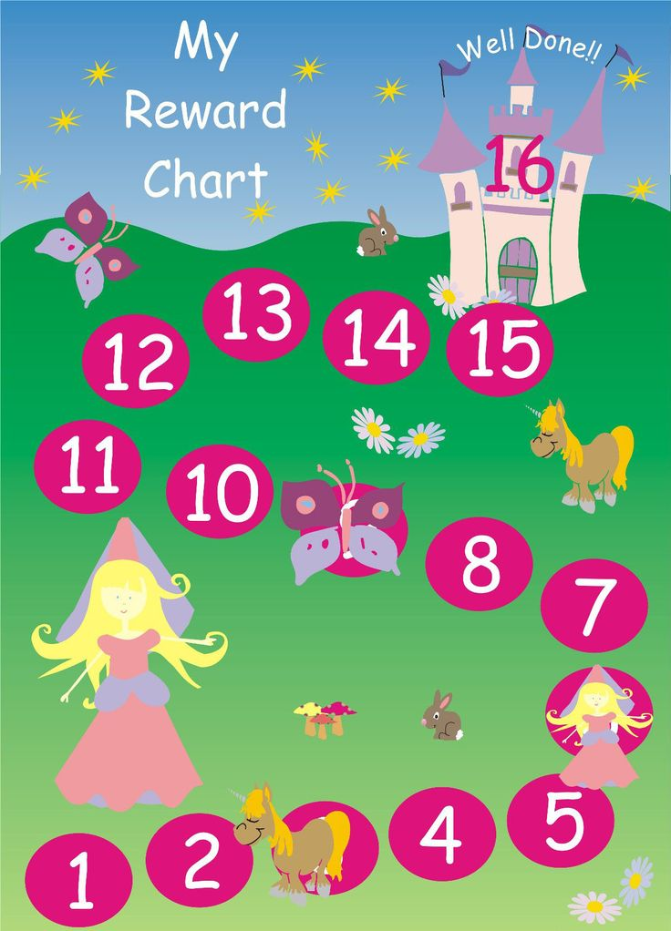 Beloningskaart /  magnetic-princess-reward-chart