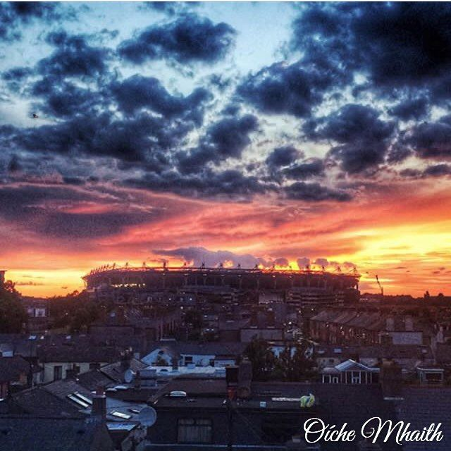 Good Night From Ireland  The sky was on fire over Croke Park when @victoriatyagunova took this picture.
