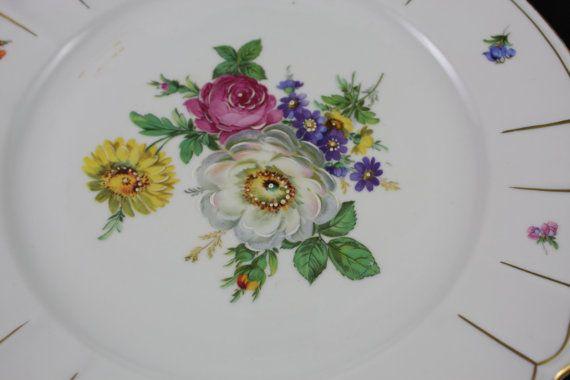 Oscar Schlegelmilch Floral Plate NR 03 porcelain by SmalandVintage