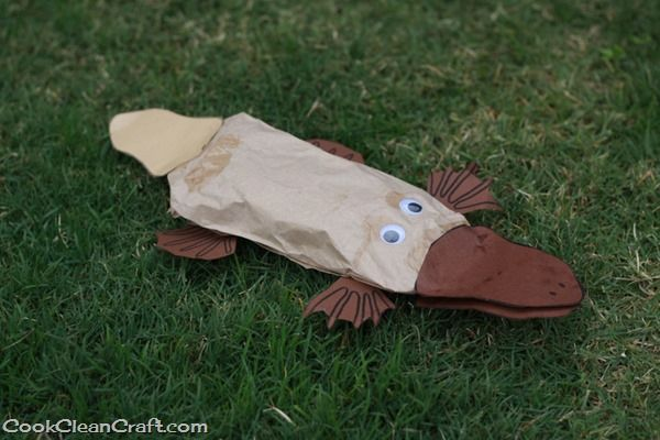 Paper-bag Perry the Platypus Craft - Cook Clean Craft