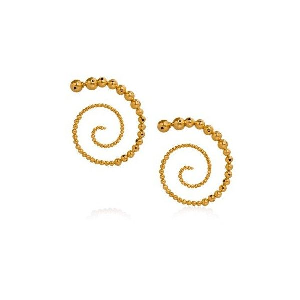 Paula Mendoza Jordan Earrings ($412) ❤ liked on Polyvore featuring jewelry, earrings, gold, earring jewelry, swirl jewelry, paula mendoza, paula mendoza jewelry and swirl earrings