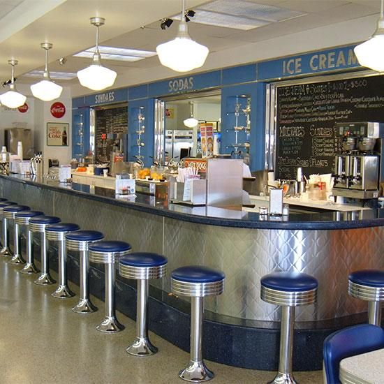 55 best soda shoppe images on pinterest soda for Old fashioned ice cream soda fountain