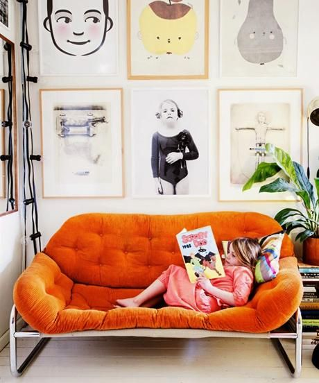vibrant couch