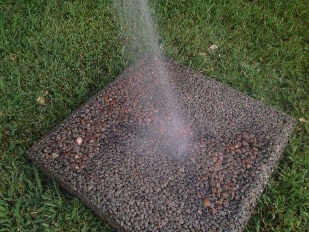 Picture of Non-Slip Pervious Concrete Stepping Stone