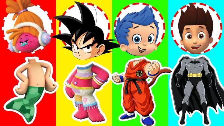 Wrong Heads Dragon Goku Bubble Guppies Paw Patrol Dreamcast Trolls Finge...