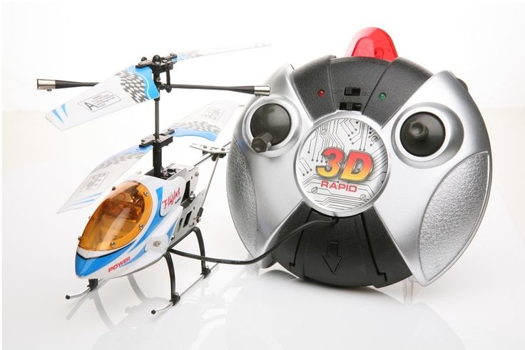 Elicottero radiocomandato con Giroscopio.  Cos'è il giroscopio? In ogni Elicottero le pale girando in un senso la fusoliera per reazione girerebbe nell'altro senso. Col rotore di coda si cerca di eguagliare perfettamente la controcoppia del rotore principale in modo da non far girare l'elicottero  su se stesso ma farlo stare fermo in asse con la coda ferma.