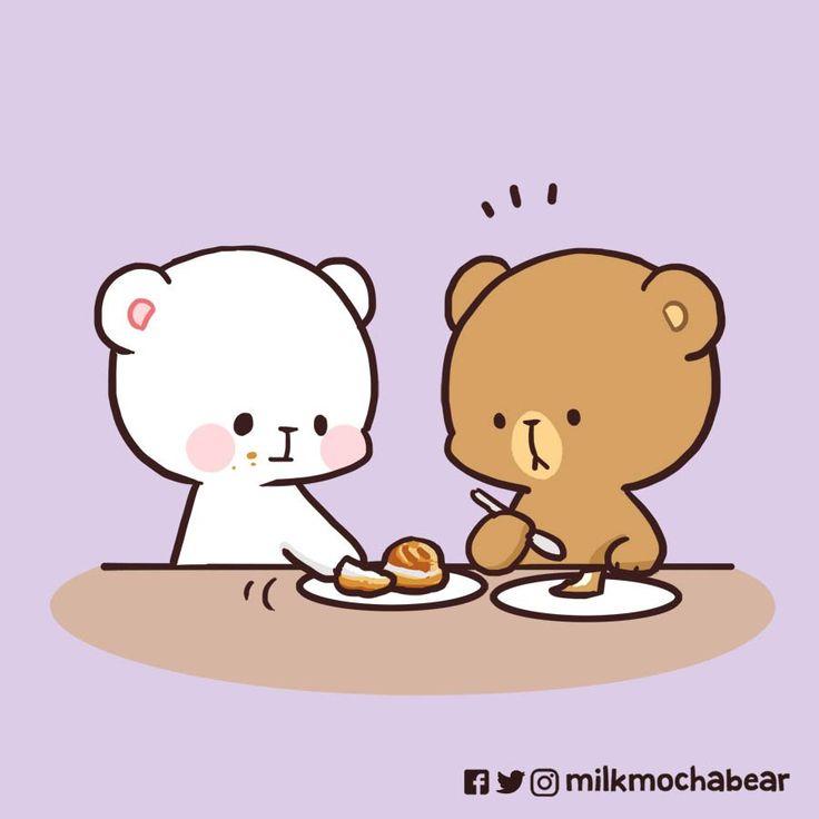 Milk & Mocha on Twitter   Cute bear drawings, Cute cartoon ...