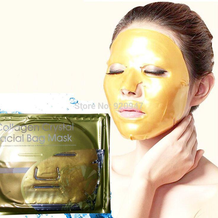 ホット 1 ピース ゴールド コラ ー ゲン クリスタル フェイス マスク抗老化スキン ケア顔の マスク