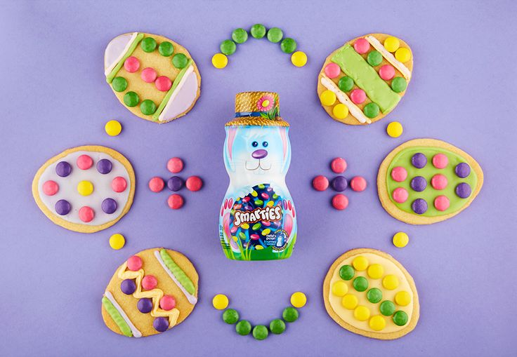 SMARTIES Easter Egg Cookies No bunny can resist yummy cookies decorated with SMARTIES!