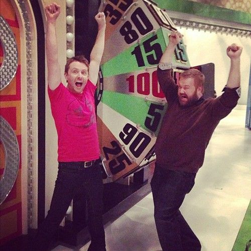 Robert Kirkman and I may have found the Price Is Right wheel in the building after Talking Dead tonight…