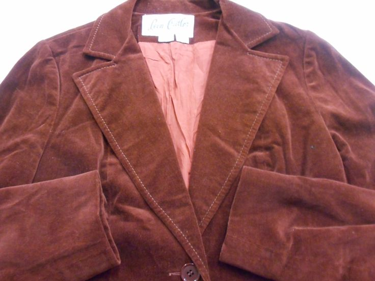 Late 1960's velvet jacket by recycology on Etsy