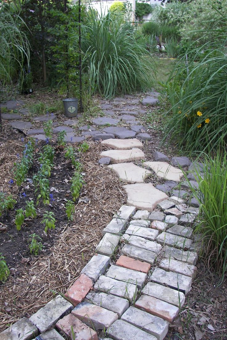 bricks ideas  pinterest garden ideas