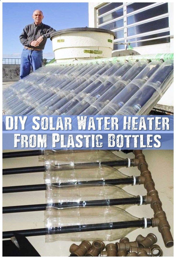 Diy solar water heater from plastic bottles make a solar for Plastic water heater
