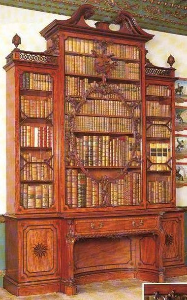 by Thomas Chippendale & Son  the famous Violin Bookcase at Wilton House. It was made for the 10th Earl of Pembroke and is one of Thomas Chippendale's most famous pieces of furniture