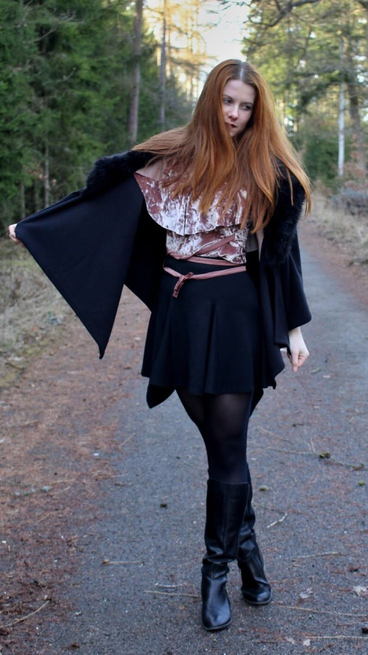 """Suede top and dark lipstick -  As first seen on blog """"Style Without Limits"""" here: Suede top and dark lipstick  She is wearing tights similar here: Black Opaque Tights These opaque tights have a high rise and a sexy matte look.  #tights #pantyhose #hosiery #nylons #tightslover #pantyhoselover #nylonlover #legs"""
