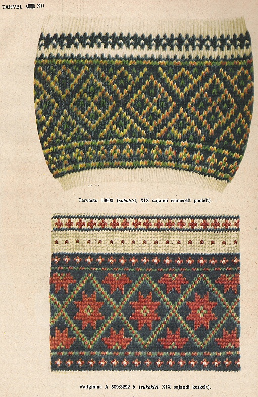 More 19th century Estonian socks