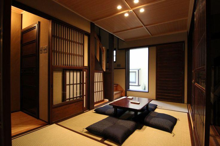 Living room at Tokiwa-an Machiya Residence Inn