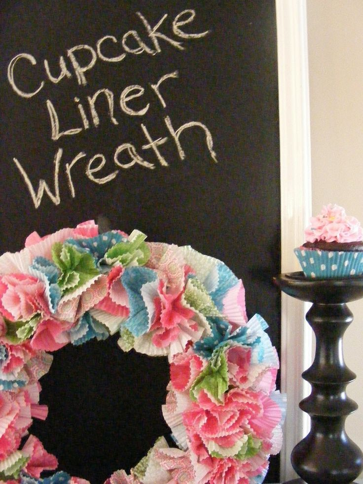 cute: Cupcakes Liner, Birthday Parties, Cheer Wreaths, Easter Wreaths, Cupcakes Wreaths, Imperfect Homemaking, Spring Wreaths, Complete Guide, Liner Wreaths