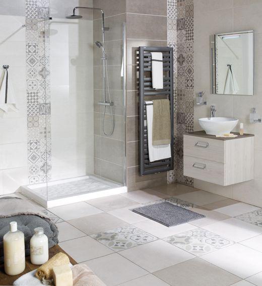 salle de bain carreaux ciment                                                                                                                                                                                 Plus