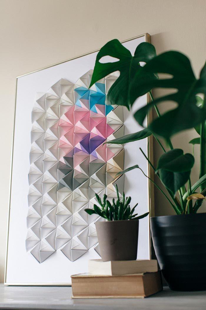 оригами на стену из бумаги 11