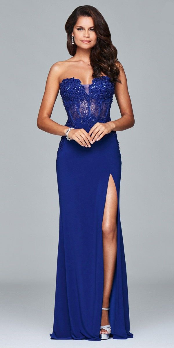 Pretty Strapless Corset Prom Dress