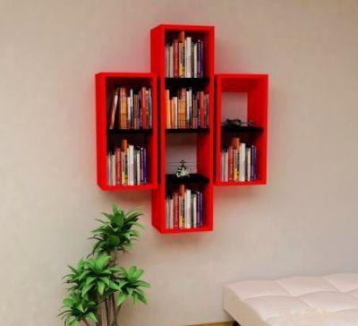Solid Kırmızı Siyah Kitaplık - CKTGJVZ3